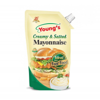 Young'S Creamy and Salted Mayonnaise Pouch - 1Ltr