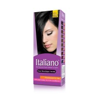 Italiano Permanent Hair Colour Cream (01 Natural Black) - 100ml