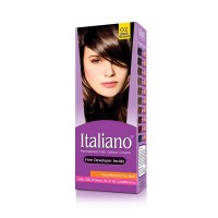 Italiano Permanent Hair Colour Cream (02 Dark Brown) - 100ml