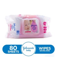 Johnson's Baby Wipes Skin Care (Pack of 80)