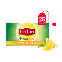 Lipton Green Tea Bags Lemon (25 Tea Bags)