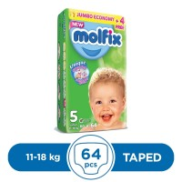 Molfix Taped 11 To 18kg - 64Pcs