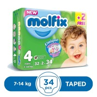 Molfix Taped 7 To 14kg - 32Pcs
