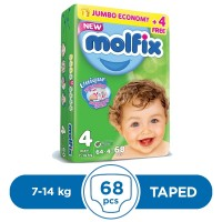 Molfix Taped 7 To 14kg - 68Pcs