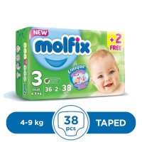Molfix Taped 4 To 9kg - 38Pcs