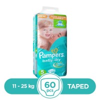 Pampers Taped 11 To 25kg - 60Pcs