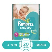 Pampers Taped 3 To 6kg - 20Pcs