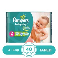 Pampers Taped 3 To 6kg - 40Pcs