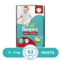 Pampers Pants 6 To 11kg - 62Pcs