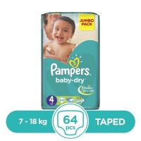Pampers Taped 7 To 18kg - 64Pcs