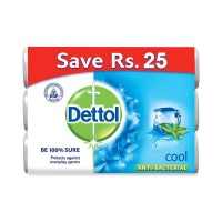 Dettol Cool Anti-Bacterial Soap - 100gm ~ Pack of 3
