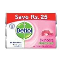 Dettol Soap Skin Care (Pack of 3) - 95gm