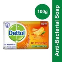 Dettol Re-energize Anti-Bacterial Soap - 100gm