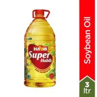 Super Habib Soybean Oil Bottle - 3ltr