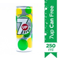 7up Free Can - 250ml