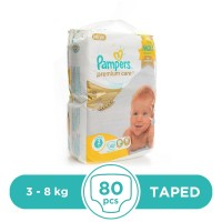 Pampers Premium 3 To 8kg - 80Pcs