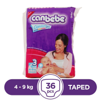 Canbebe Taped 4 To 9kg - 36Pcs