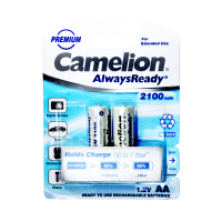 Camelion AlwaysReady Rechargeable Batteries AA 2100 mAH