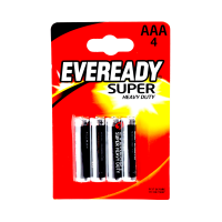 Eveready Super Heavy Duty AAA Batteries (Pack Of 4)