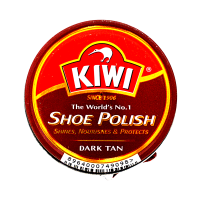 Kiwi Dark Tan Shoe Polish 45ml