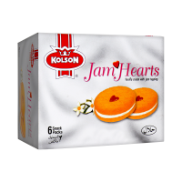 Kolson Jam Hearts Vanilla Snack Pack (Pack Of 6)