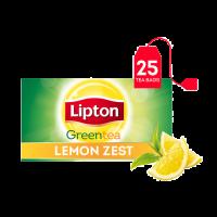 Lipton Green Tea Bags Lemon (25 Tea Bags)