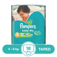 Pampers Taped 4 To 9kg - 18Pcs
