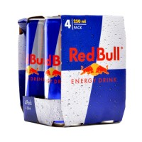 Red Bull Drink Can 250ml (Pack of 4)