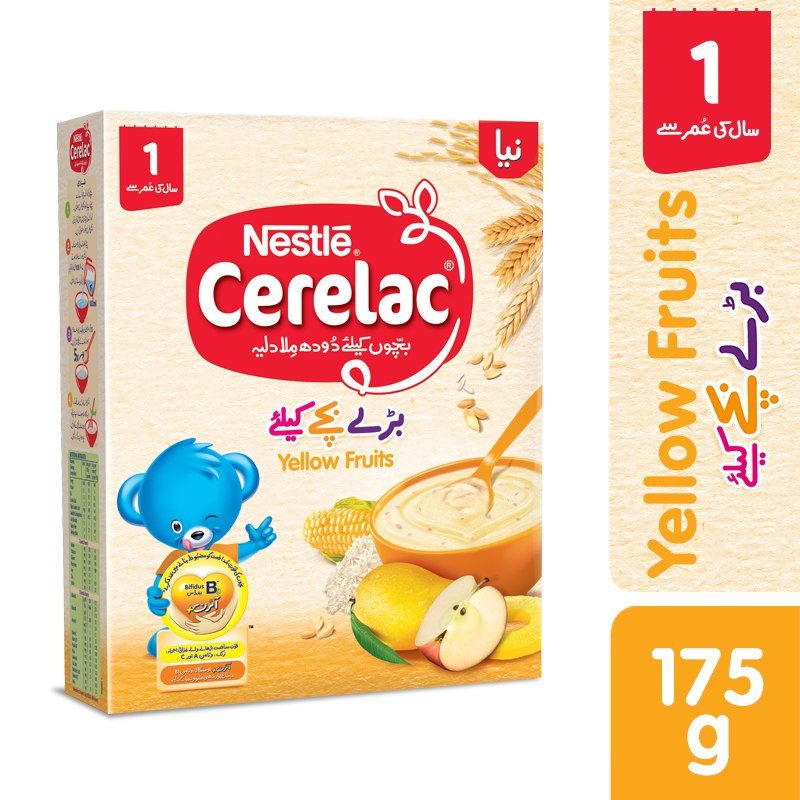 Nestle Cerelac Yellow Fruits 1 Year 175gm